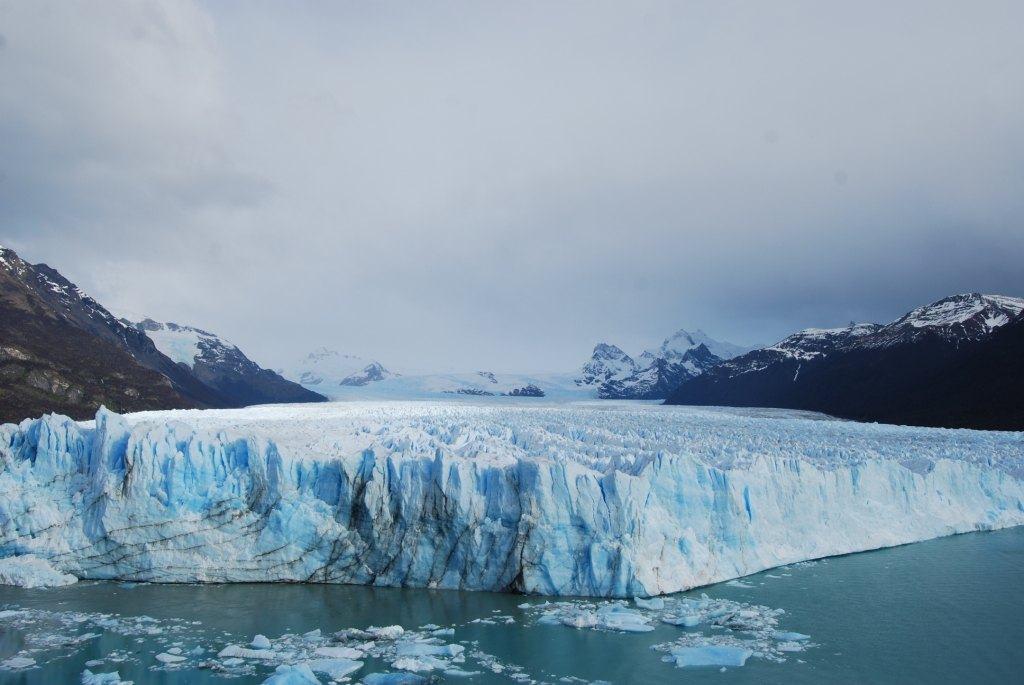 glaciar frente