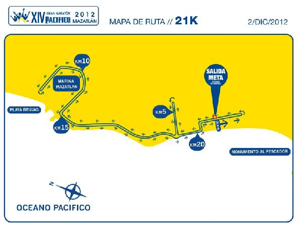 Ruta 21K Gran Maraton del Pacifico 2012