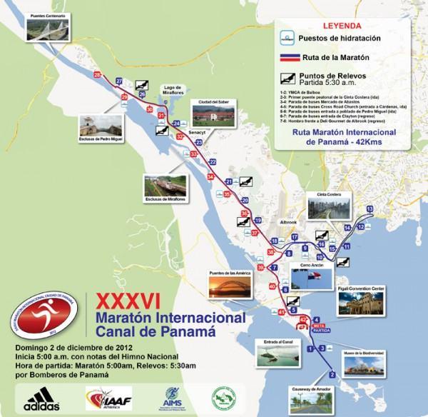 Ruta 42K Maratón Internacional Canal de Panamá