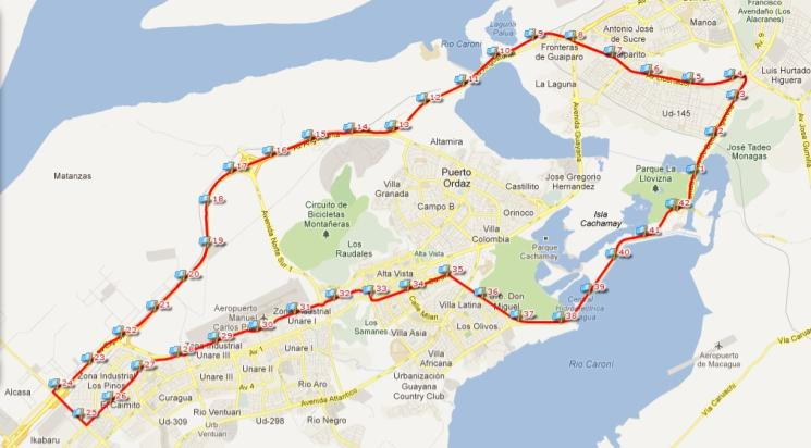 ruta 42k faja del orinoco