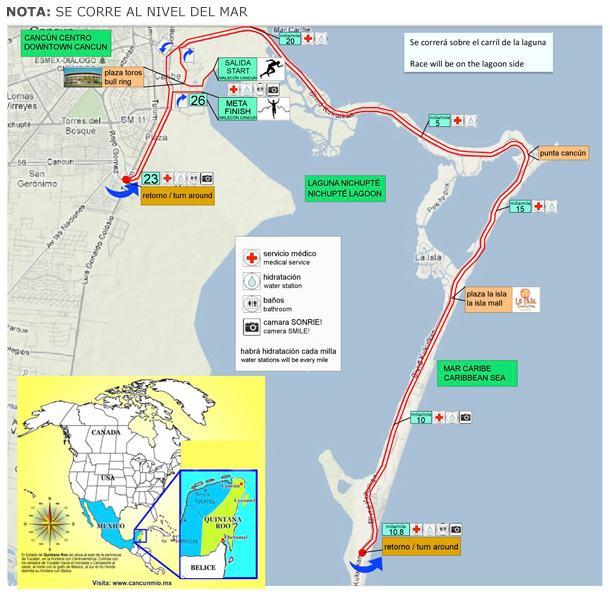 Ruta Maraton de Cancun 2012