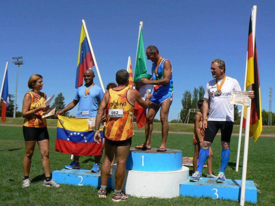 Podio Mundial de Retro Running 2012