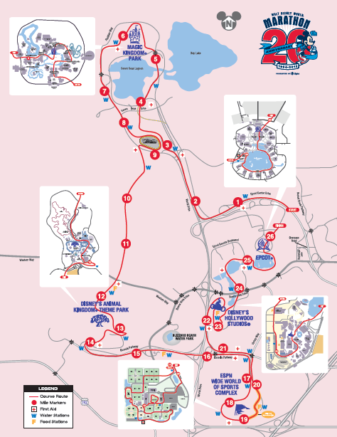 mapa maratón walt disney world