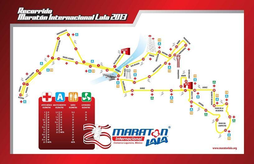 Mapa Maraton Lala