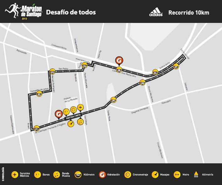 recorrido santiago 2013 10K