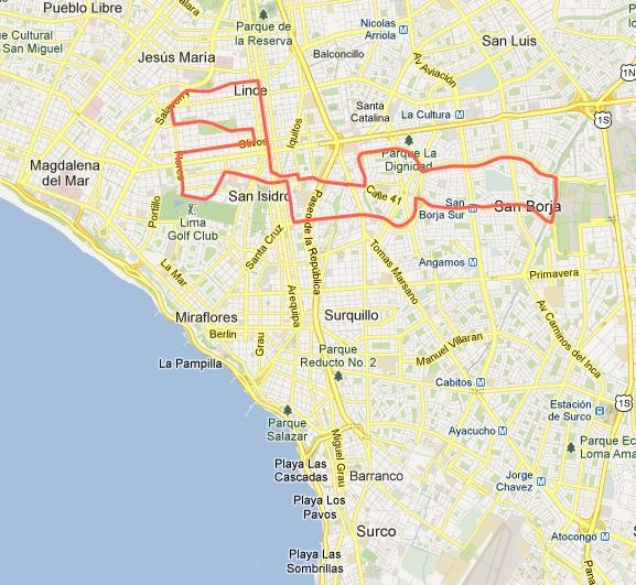 Ruta Lima 21K