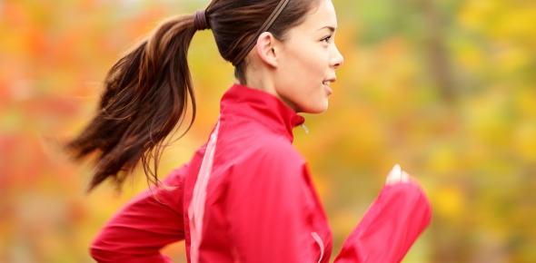 Mujer corriendo o caminando