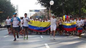 II Carrera por la Paz, Caracas, Venezuela. 1 de marzo de 2014. Foto Cortesía de @RunnersVzla