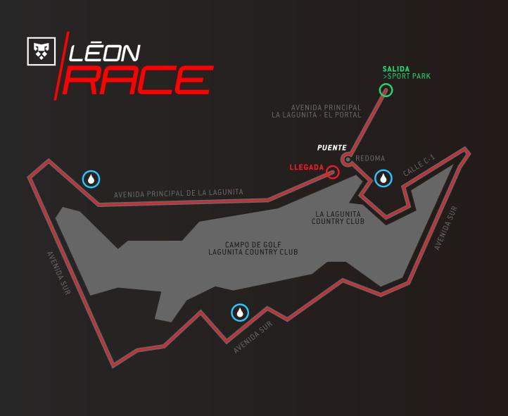 mapa leon race