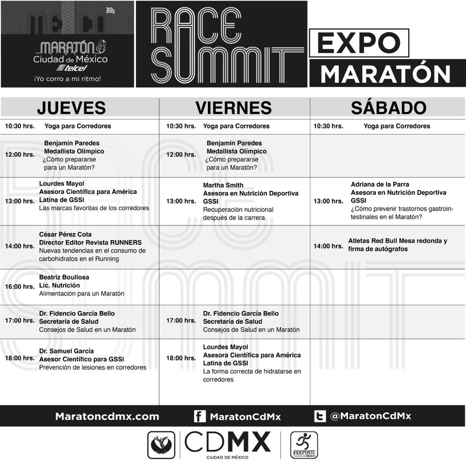 charlas EXPO Maratón CDMX