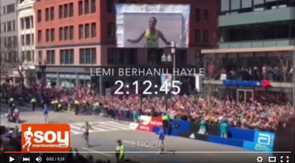 Llegada maratón Boston 2016