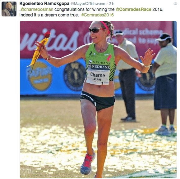 Charne Bosman maratón comrades 2016