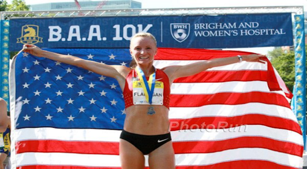 Flanagan rompe récord 10K de Estados Unidos en Boston