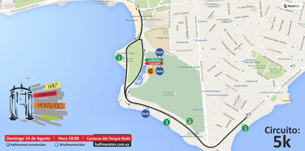 Circuito 5K Half maraton Montevideo