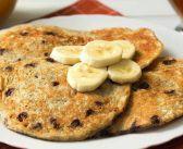 Panqueques de Plátano y ChocoChips ¡Un desayuno de campeones!