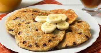 banana choco pancakes