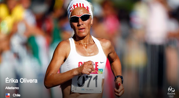Erika Olivera maratonista Chile