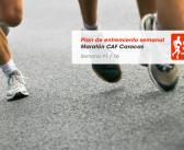 Plan de entrenamiento – Semana 1/16 – Maratón CAF Caracas