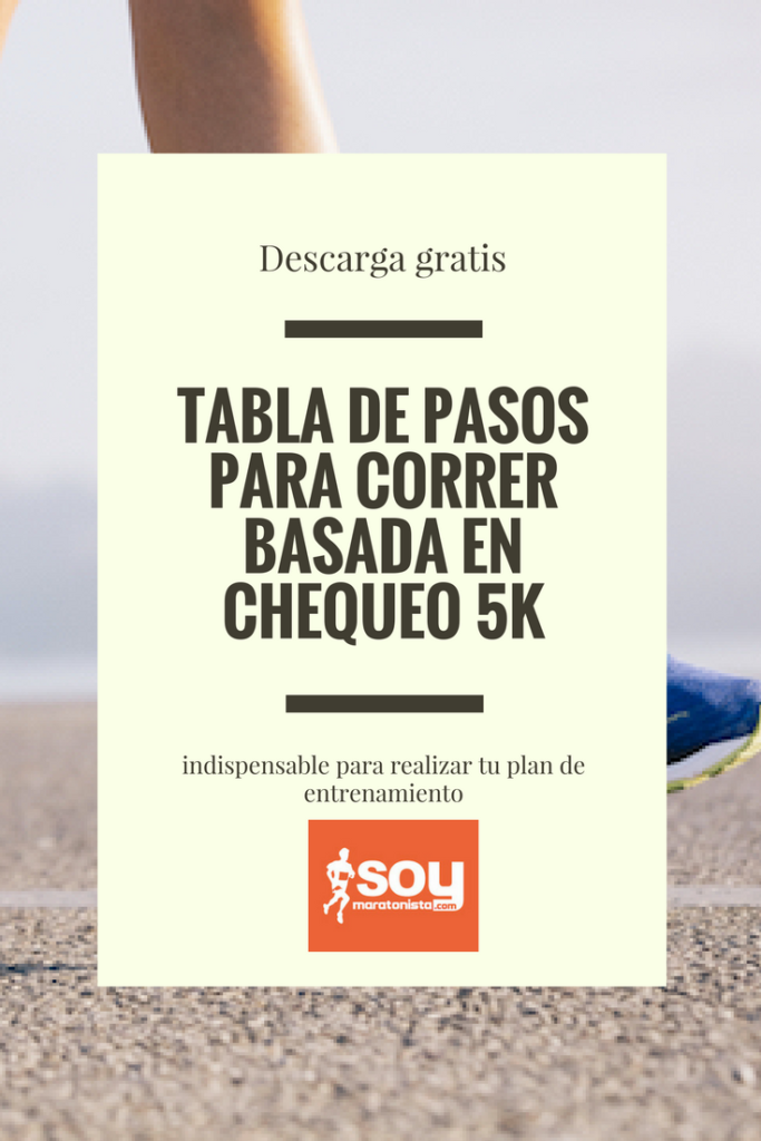 ebook Tabla de pasos 5K