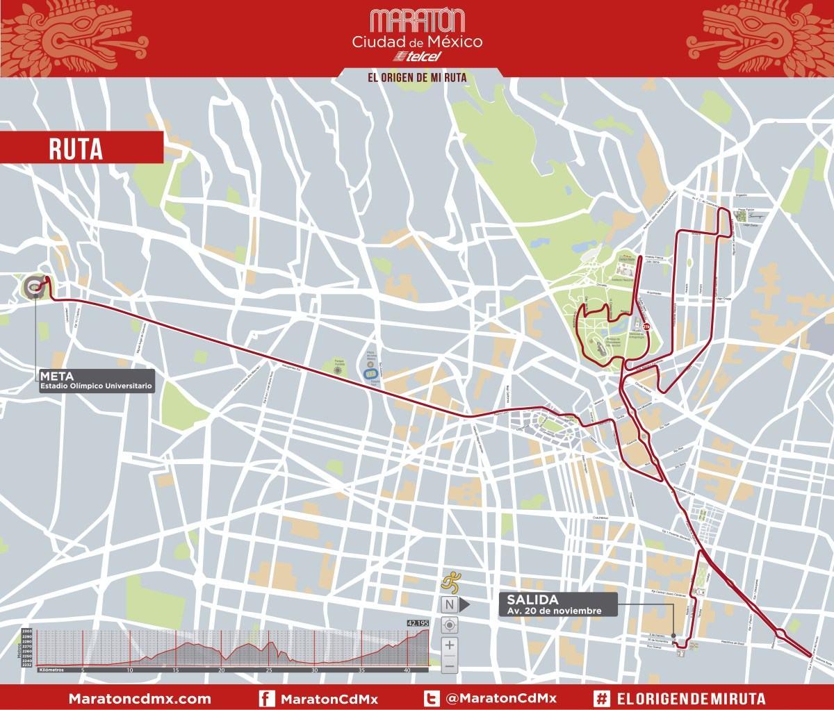 Nueva Ruta del Maratón CDMX 2017