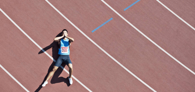 Problemas de salud del corredor durante la carrera