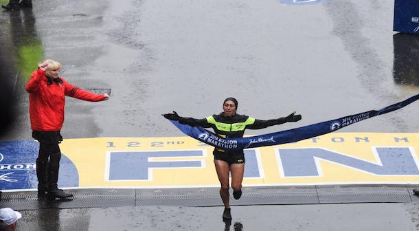Ganadora maratón Boston 2018