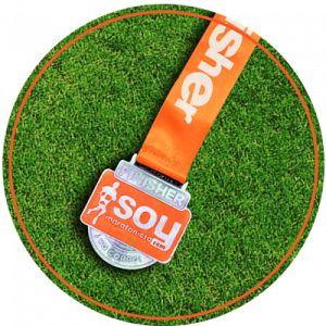 medalla naranja carrera virtual no competitiva soymaratonista