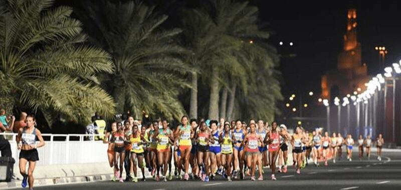 Maratón femenino Campeonato Mundial de Doha 2019