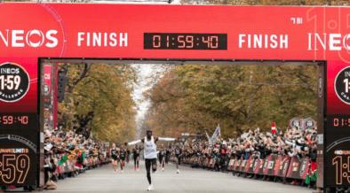 Eliud Kipchoge rompió la barrera de las dos horas en el maratón