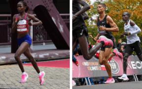 Kosgei y Kipchoge con las Nike ZoomX Vaporfly Next%