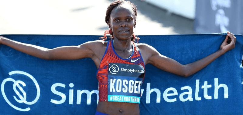 Brigid Kosgei encabeza el grupo de mujeres