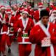 La tradicional carrera de Navidad de Burlington, en Nueva Jersey.