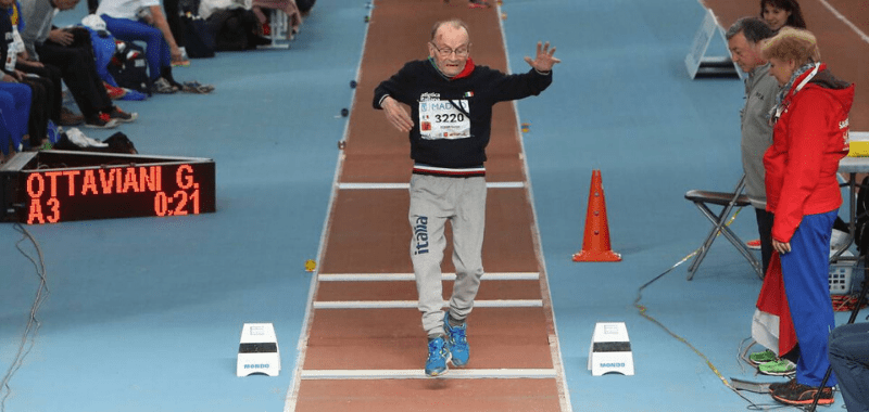 Giuseppe Ottaviani, atleta italiano, fallece a sus 104 años