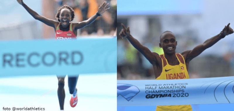 Kiplimo y Jepchirchir ganan el media maratón de Gdynia