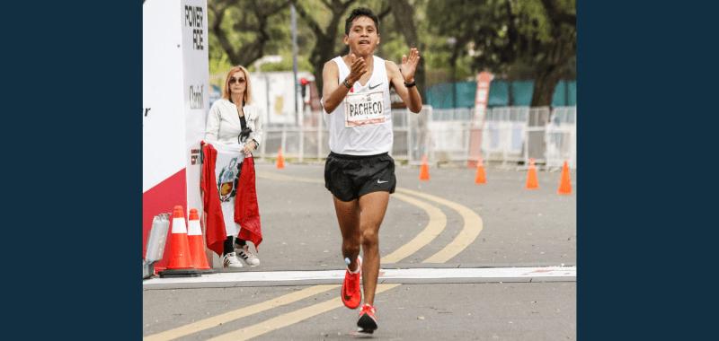 El maratonista peruano Christian Pacheco