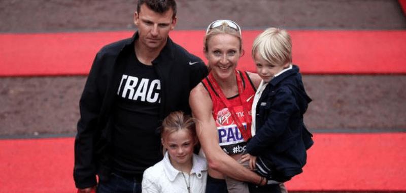 Paula Radcliffe y su familia